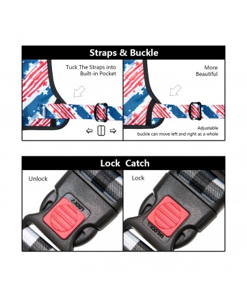 PoyPet  [Upgrated] No Pull Dog Harness  - 3M Reflective - 3 Snap Buckles(USA FLag)