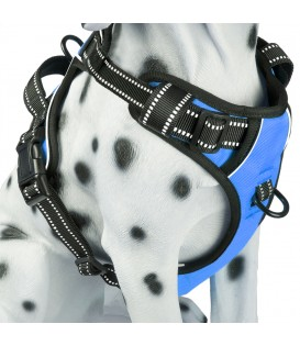 PoyPet 3M Reflective -Easy Control- No Pull Dog Harness (Blue)