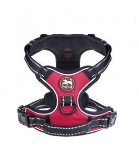 PoyPet 3M Reflective No Pull Dog Harness ( Red, Slide Over The Head Design  )