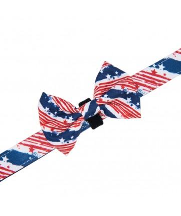 PoyPet  Dog Collar + Bowknot (USA FLag)
