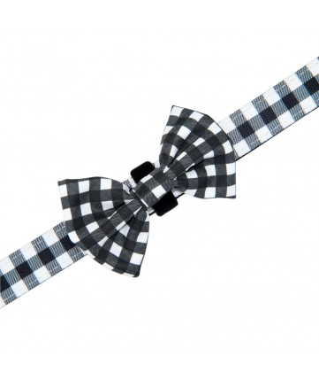 PoyPet Dog Collar + Bowknot (Grid )