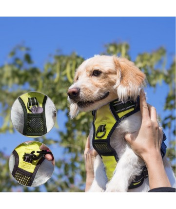 PoyPet 2018 No Pull Dog Harness - 3M Reflective - 2 Metal Front & Back Leash Hooks  - With Easy Control Handle - 3 Snap Buckles ( Green )