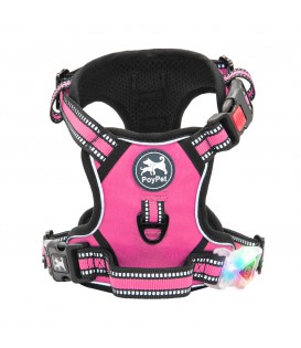 PoyPet LED Flashing Light - No Pull Dog Harness ( Pink )
