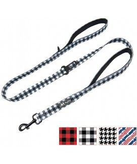 PoyPet 5 Feet Printed Dog Leash with Car Seat Belt (Grid)