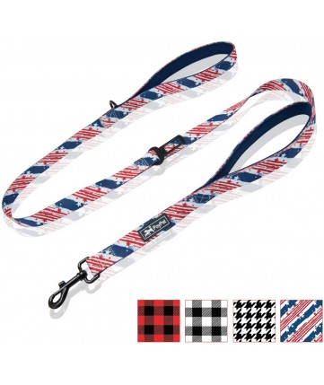 PoyPet 5 Feet Printed Dog Leash with Car Seat Belt (USA Flag)