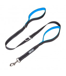 PoyPet  3M Reflective 5 Feet Dog Leash with Car Seat Belt (Blue)