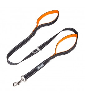 PoyPet  3M Reflective 5 Feet Dog Leash with Car Seat Belt (Orange)